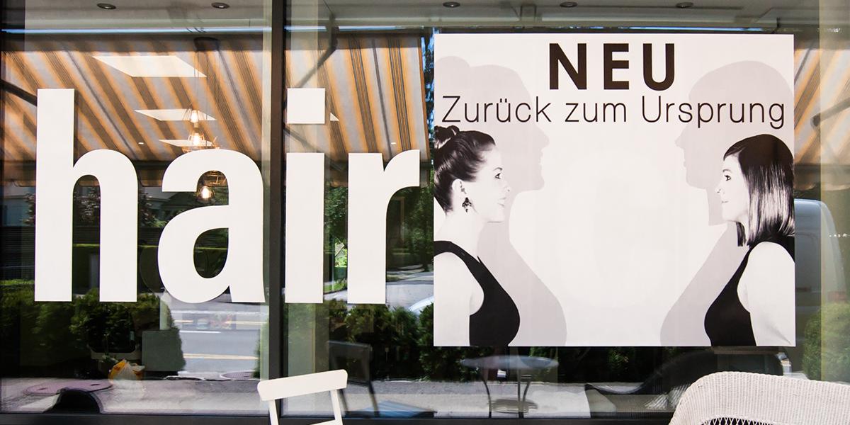 Coifför hairlich GmbH - Schaufenster - hair.ch