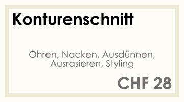 Coifför hairlich GmbH - Preise - Herren - Konturenschnitt